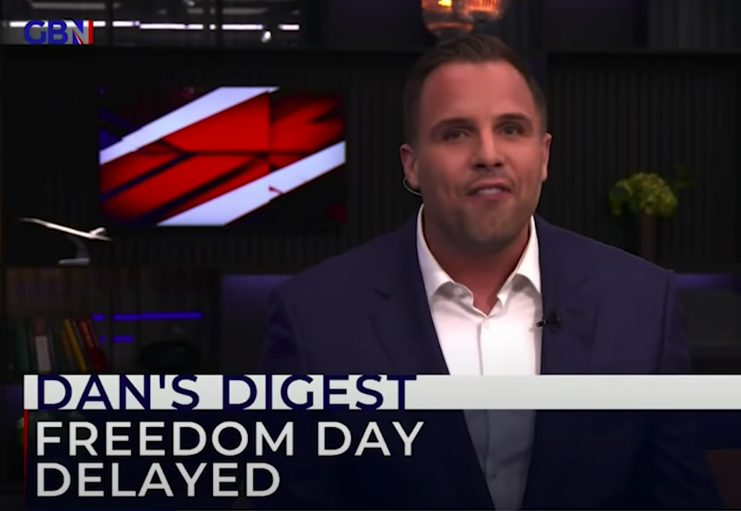 Dan Wootton, presenting GB News' nightly prime time programme, was hired from The Sun  (Sky)
