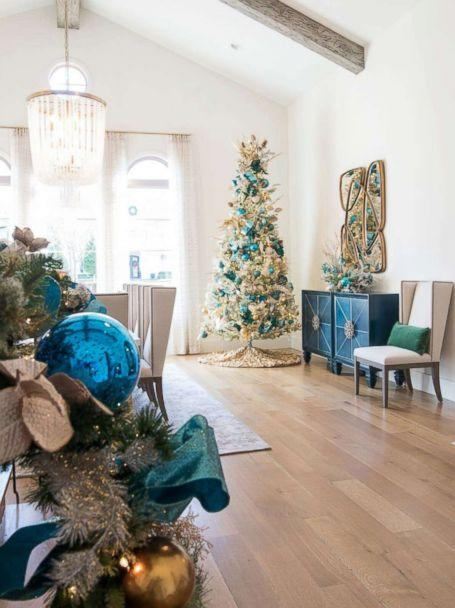 PHOTO: A dining room is decorated for Christmas by Baker Design Group. (Baker Design Group)