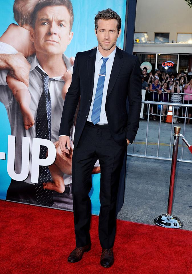 """<a href=""""http://movies.yahoo.com/movie/contributor/1800025139"""">Ryan Reynolds</a> at the Los Angeles premiere of <a href=""""http://movies.yahoo.com/movie/1810155680/info"""">The Change-Up</a> on August 1, 2011."""