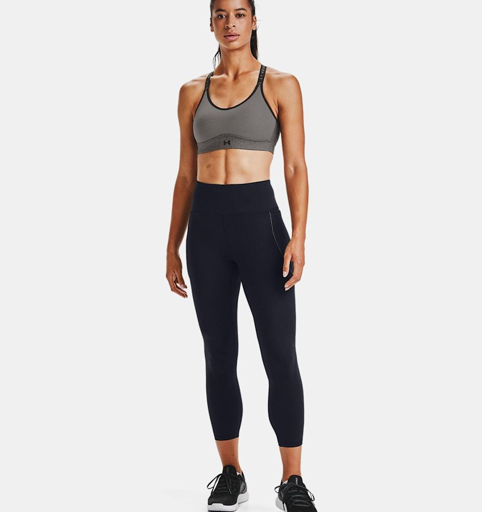 """<p>These <span>UA HydraFuse Ankle Leggings</span> ($90) have a streamlined fit without the compression, and they also happen to be Under Armour's softest tights. Made with HydraFuse fabric embedded with moisturizing microspheres, these leggings are stretchy and hydrating, and the perfect pair to <a href=""""https://www.popsugar.com/beauty/does-exercise-help-your-skin-46836560"""" class=""""link rapid-noclick-resp"""" rel=""""nofollow noopener"""" target=""""_blank"""" data-ylk=""""slk:help your skin recover"""">help your skin recover</a> from those intense workouts.</p>"""