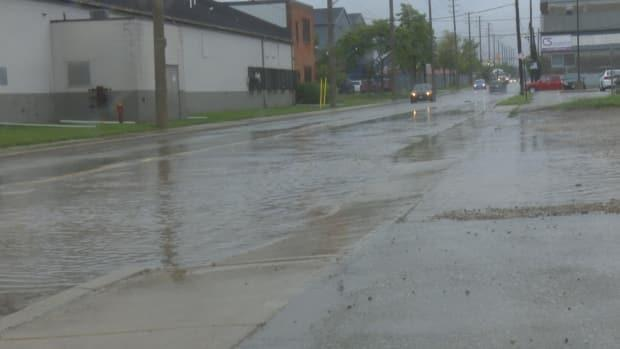 Many parts of Windsor-Essex experienced significant flooding on Friday July 16. (Darrin Di Carlo/CBC - image credit)