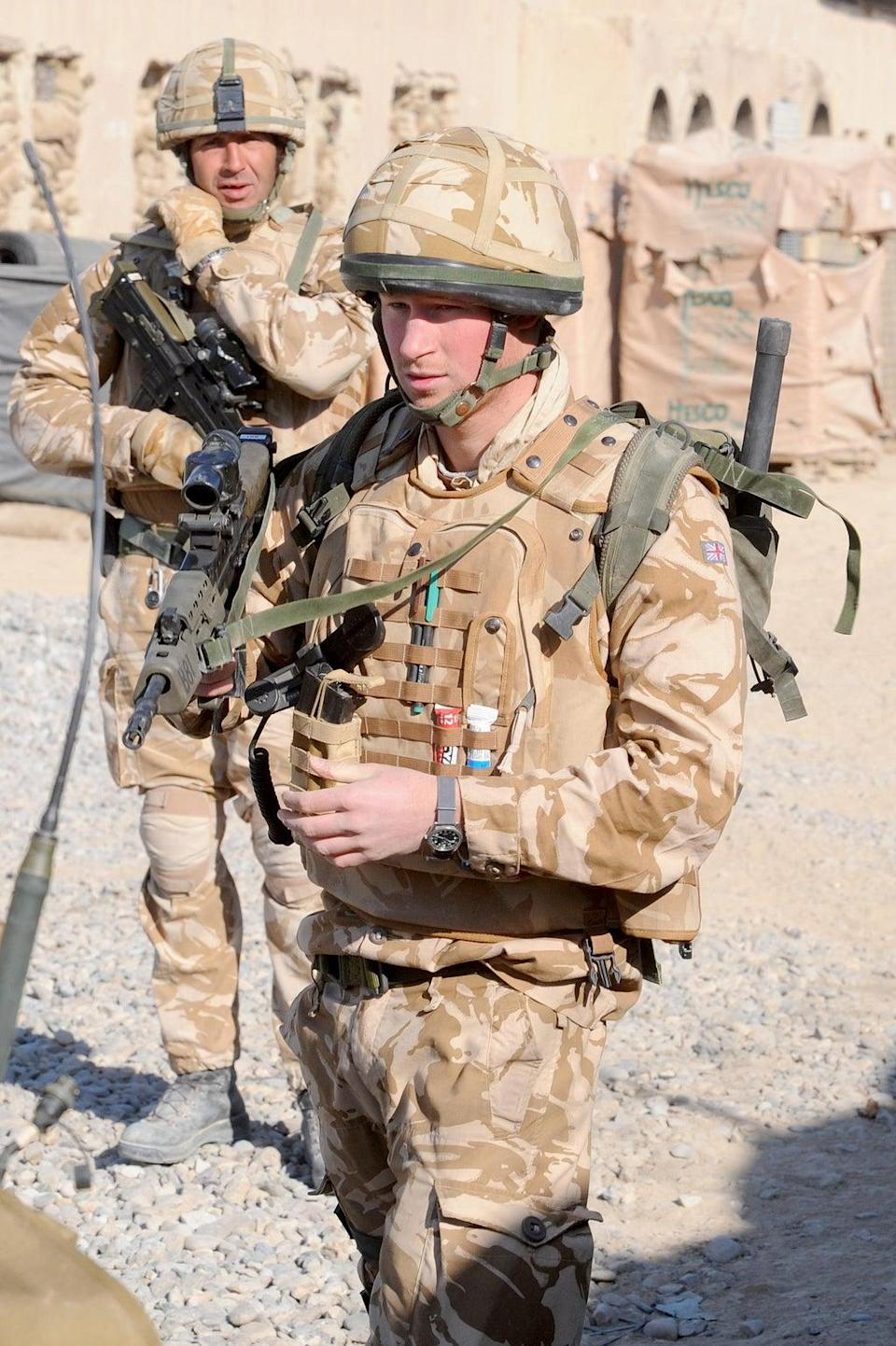 Harry serving in Afghanistan (John Stillwell/PA) (PA Archive)
