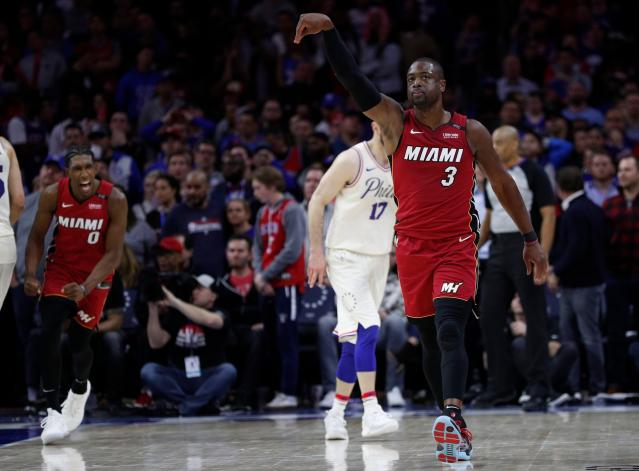 Dwyane Wade gave the Heat exactly what they needed to stun the Sixers and earn a split in Philadelphia. (AP)ne