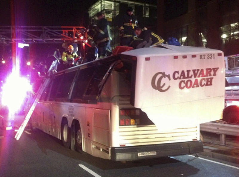 Mass. police: No decision on charges in bus crash