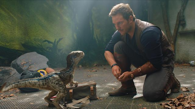 Owen and baby Blue in a flashback scene. (Photo: Universal Pictures)
