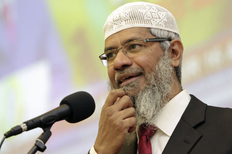 The Mumbai-born Islamic evangelist triggered a firestorm nationwide following reports of his lecture in Kelantan last Saturday. — Picture by Yusof Mat Isa