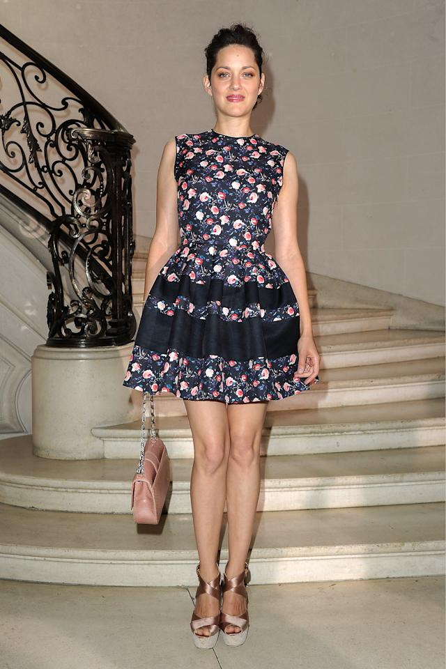 PARIS, FRANCE - JULY 02:  Marion Cotillard arrives at the Christian Dior Haute-Couture show as part of Paris Fashion Week Fall / Winter 2013 on July 2, 2012 in Paris, France.  (Photo by Pascal Le Segretain/Getty Images)