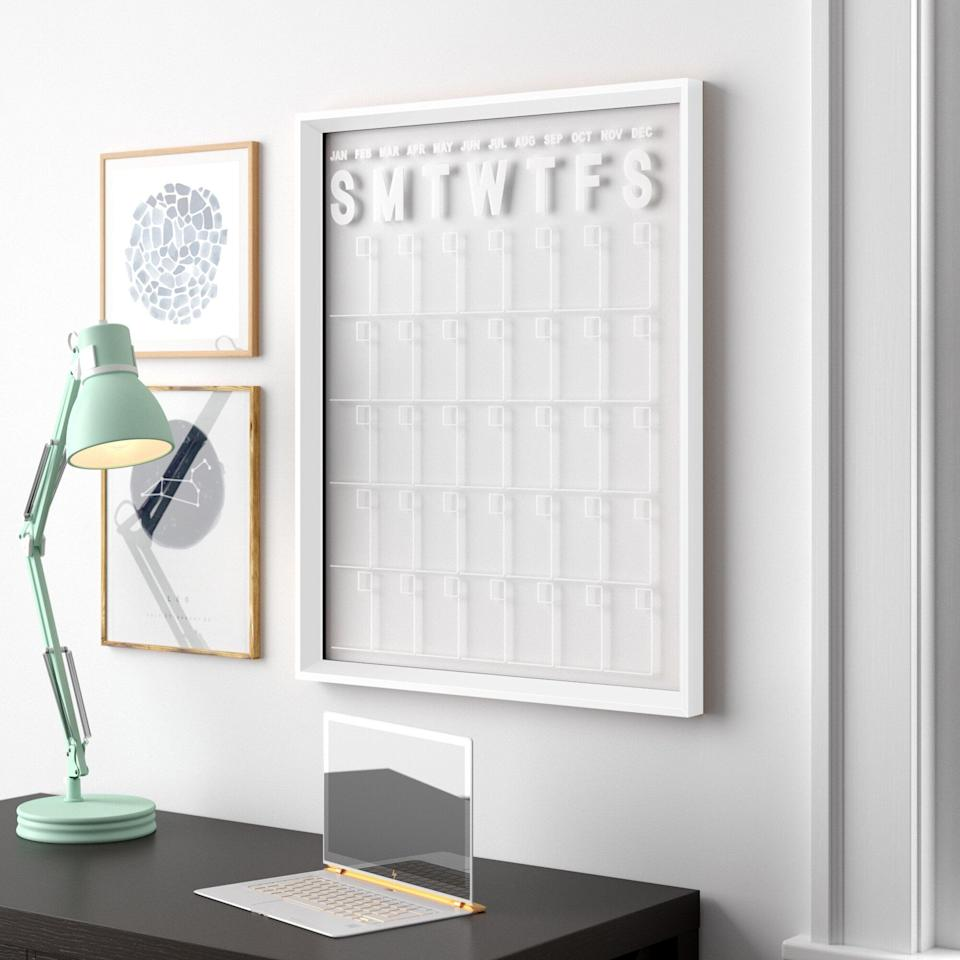 <p>This <span>Wall Mounted Calendar Board</span> ($96, originally $106) is a great choice, because you can customize and change it over time instead of replacing it.</p>