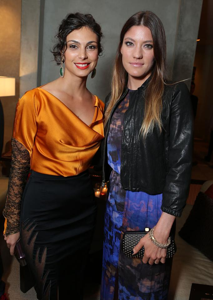 Morena Baccarin and Jennifer Carpenter at Showtime's 7th Annual Holiday Soiree on December 3, 2012 in Beverly Hills, California.
