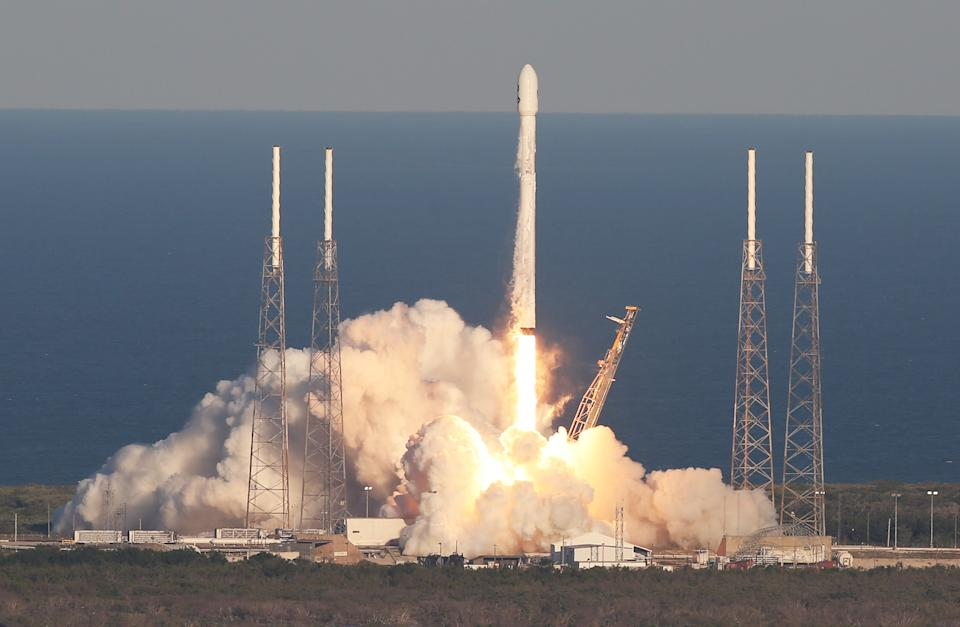 Foguete da SpaceX. (Foto: Red Huber/Orlando Sentinel/Tribune News Service via Getty Images)