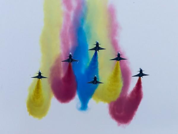 China's J-10 fighter jets perform during an air show. (Photo Credit - Reuters)