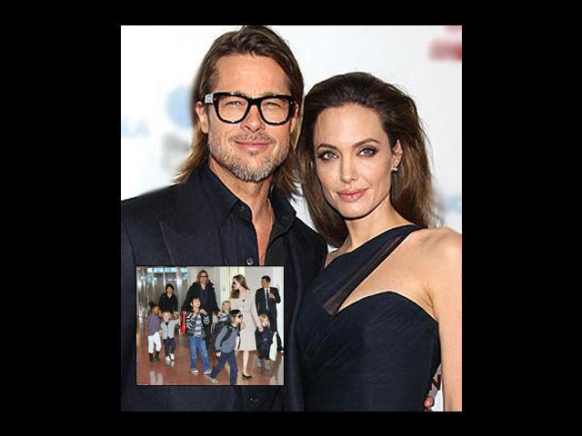 <p><strong>Angelina Jolie-Brad Pitt</strong><br /><br />The hottest couple in the world had their first biological child Shiloh followed by the twins- Knox and Vivienne. Their other kids are adopted but all of them are the most talked about children in the celebrity world.</p>