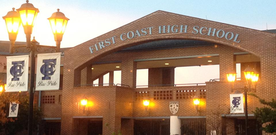 A Florida teacher at First Coast High School was recorded dragging a female student by her braids across the room. (Photo: dcps.duvalschools.org)