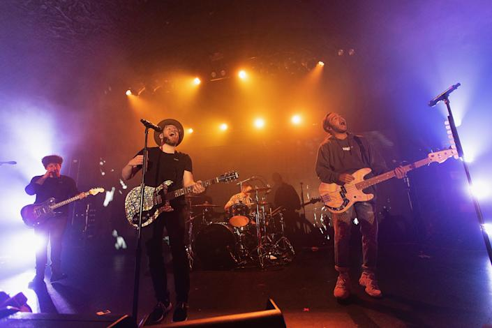 Fall Out Boy performs on stage at Showbox Downtown during iHeartRadio LIVE and Verizon bring you Fall Out Boy in Seattle on Nov. 11, 2019 in Seattle, Washington.