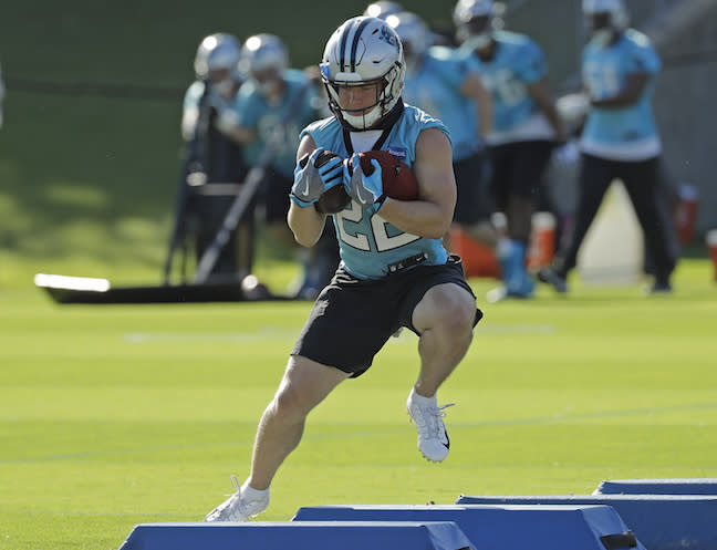 Christian McCaffrey cracked the RB top-15 last year in .5 PPR leagues. Can he repeat the feat with C.J. Anderson on roster? (AP Photo/Chuck Burton)