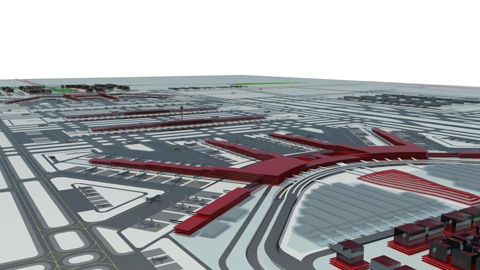 Early media reports suggested that there could be up to 9 runways: 8 runways for civil aviation plus one runway dedicated to military usage. Construction for the new airport is projected to begin in late 2012. The programmed completion date for the new airport is October 2017. A new high speed rail service is planned which will connect the airport to central Beijing with a journey time of 30 minutes. (Image/ Design Copyright of NACO, Netherlands Airport Consultants B.V)