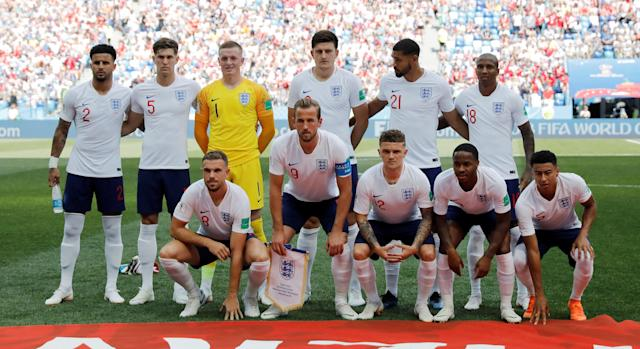<p>England's team photograph </p>
