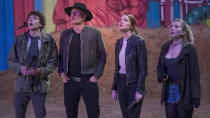 After fans waited a decade, the entire cast of <em>Zombieland</em> reunited for this sequel, which returns to the group of survivors living in the abandoned White House. Needless to say, their newfound bliss doesn't last long with new, more powerful, members of the undead on the prowl. (Credit: Sony)
