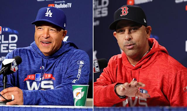Dave Roberts and Alex Cora are the first two minority managers to meet in the World Series. (Getty Images)