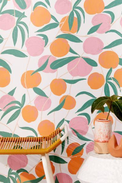 """<h3><a href=""""https://www.urbanoutfitters.com/shop/peaches-removable-wallpaper"""" rel=""""nofollow noopener"""" target=""""_blank"""" data-ylk=""""slk:Urban Outfitters Peaches Removable Wallpaper"""" class=""""link rapid-noclick-resp"""">Urban Outfitters Peaches Removable Wallpaper</a> </h3><br><br>If painting your space is off-limits, try livening those bare walls up with panels of stick-on wall paper.<br><br><strong>Urban Outfitters</strong> Peaches Removable Wallpaper, $, available at <a href=""""https://www.urbanoutfitters.com/shop/peaches-removable-wallpaper"""" rel=""""nofollow noopener"""" target=""""_blank"""" data-ylk=""""slk:Urban Outfitters"""" class=""""link rapid-noclick-resp"""">Urban Outfitters</a>"""