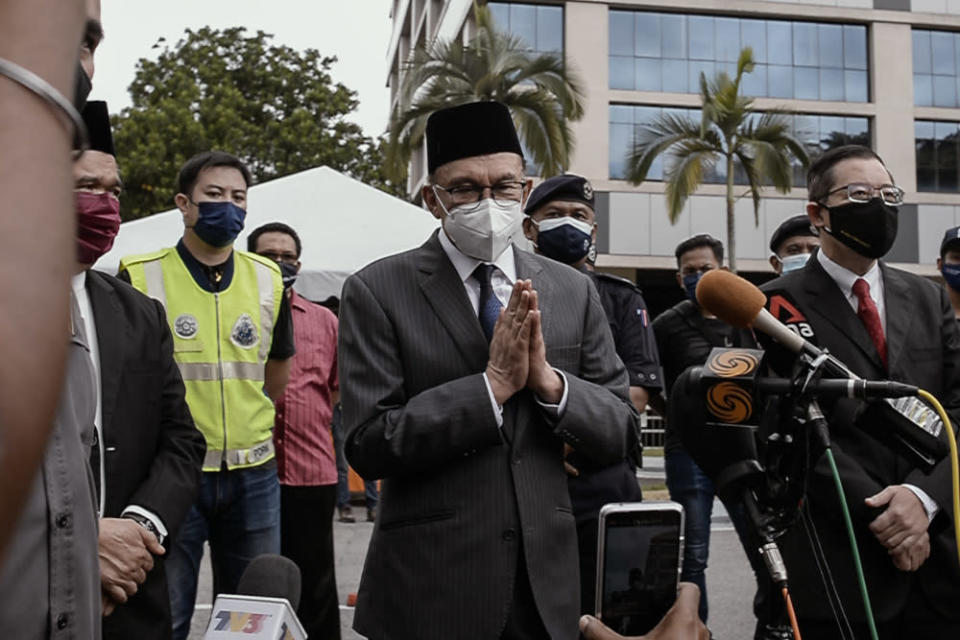 In a statement yesterday, Datuk Seri Anwar Ibrahim said the Opposition acknowledged that the decision conformed to the Constitution, and the concepts of parliamentary democracy and constitutional monarchy. — Picture by Shafwan Zaidon