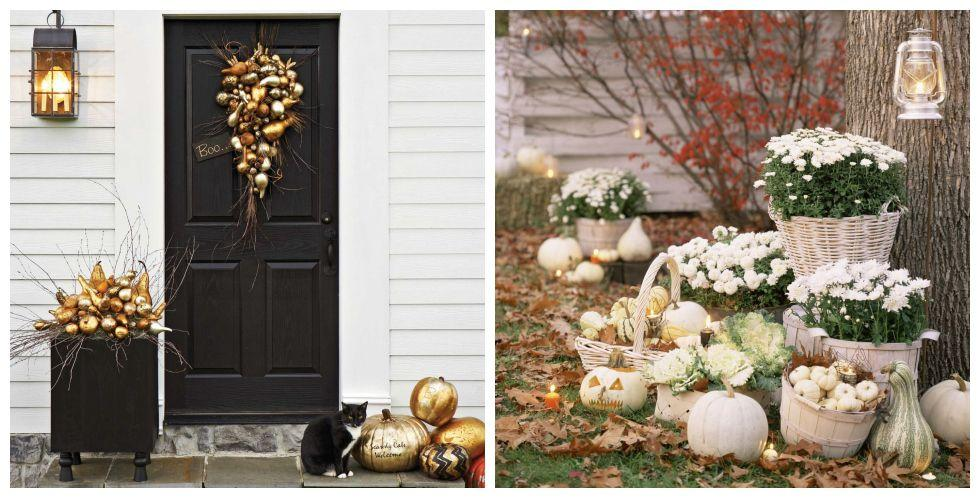 """<p>Between trick-or-treaters and friendly neighbors, <a rel=""""nofollow"""" href=""""https://www.countryliving.com/home-design/decorating-ideas/g3739/halloween-centerpieces/"""">your haunted house</a> gets plenty of foot traffic during October. With these <a rel=""""nofollow"""" href=""""https://www.countryliving.com/diy-crafts/how-to/g1024/do-it-yourself-halloween-decorations-1010/"""">DIY outdoor Halloween decorations</a>, your home will be looking its very best. </p>"""