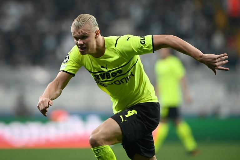 Erling Haaland has scored 21 goals in 17 Champions League games (AFP/OZAN KOSE)