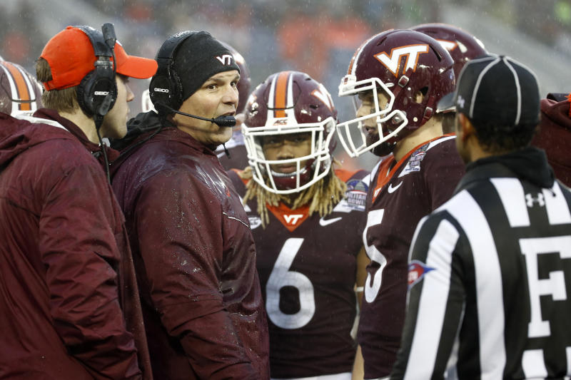Justin Fuente and the Virginia Tech Hokies appear to have it easy schedule-wise this college football season. (AP)