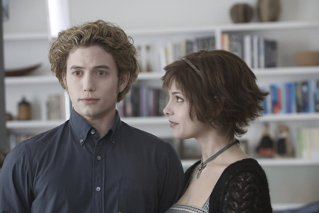 """JASPER (<a href=""""http://movies.yahoo.com/movie/contributor/1809769056"""">Jackson Rathbone</a>):  Full Name: Jasper Whitlock Hale  Status: Vampire  Date of Birth: 1843  Date of Transformation: 1863  Special Abilities: Able to feel and to manipulate the emotions of those around him.   """"I can feel what you're feeling now -- and you are worth it.""""   ALICE (<a href=""""http://movies.yahoo.com/movie/contributor/1810024386"""">Ashley Greene</a>):  Full Name: Mary Alice Brandon Cullen  Status: Vampire  Date of Birth: Around 1901  Date of Transformation: 1920s  Special Abilities: Can see the future   """"Some things are more certain than others..."""""""