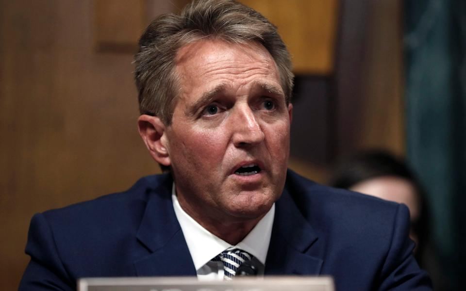 Jeff Flake, the former Republican senator for Arizona - AP Photo/Pablo Martinez Monsivais