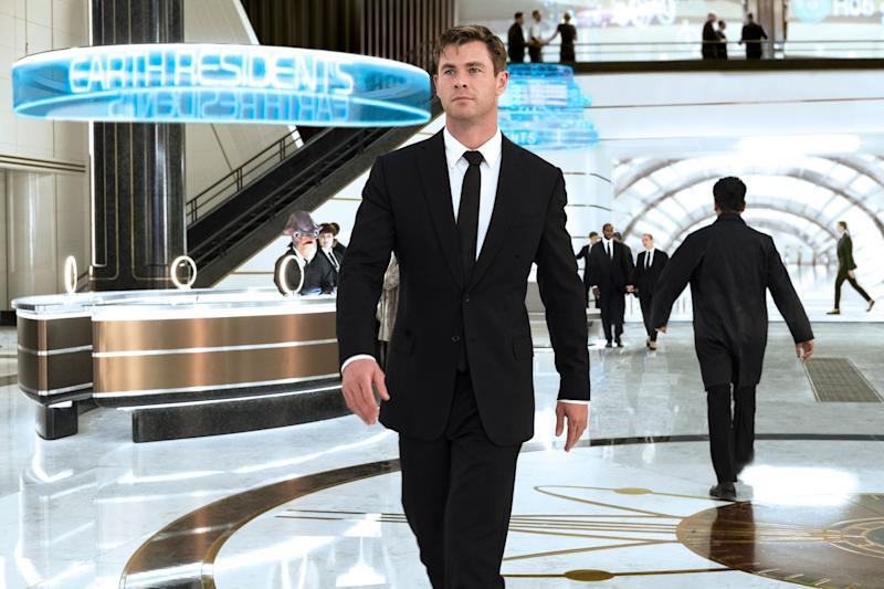 Agent H (Chris Hemsworth) in London's MIB Headquarters in Columbia Pictures' MEN IN BLACK: INTERNATIONAL (Sony Pictures)