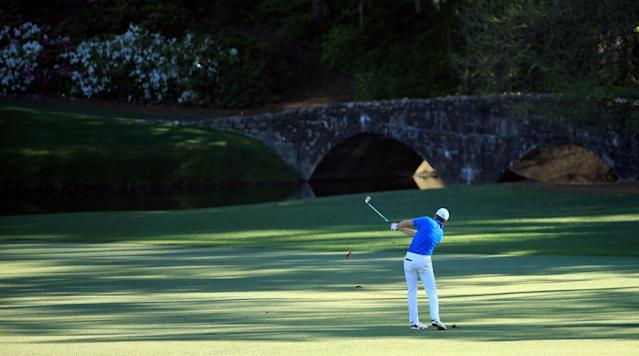 Jordan Spieth hit two balls into Rae's Creek on the 12th hole during Sunday's final round to cost himself a shot at back-to-back green jackets.