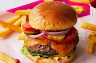 """<p>Missing meat? Toss one of these plant-based <a href=""""https://www.thedailymeal.com/cook/ways-you-ve-been-cooking-backyard-burgers-all-wrong-gallery?referrer=yahoo&category=beauty_food&include_utm=1&utm_medium=referral&utm_source=yahoo&utm_campaign=feed"""" rel=""""nofollow noopener"""" target=""""_blank"""" data-ylk=""""slk:patties on the grill"""" class=""""link rapid-noclick-resp"""">patties on the grill</a> or stove just like any other burger. Assemble it with your favorite toppings and enjoy.</p> <p><a href=""""https://www.thedailymeal.com/americana-impossible-burger?referrer=yahoo&category=beauty_food&include_utm=1&utm_medium=referral&utm_source=yahoo&utm_campaign=feed"""" rel=""""nofollow noopener"""" target=""""_blank"""" data-ylk=""""slk:For the Americana Impossible Burger recipe, click here."""" class=""""link rapid-noclick-resp"""">For the Americana Impossible Burger recipe, click here.</a></p>"""