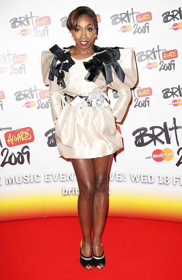 "When is Estelle going to wear something sexy? More importantly, when is she going to fire her stylist? Dave Hogan/<a href=""http://www.gettyimages.com/"" target=""new"">GettyImages.com</a> - February 18, 2009"