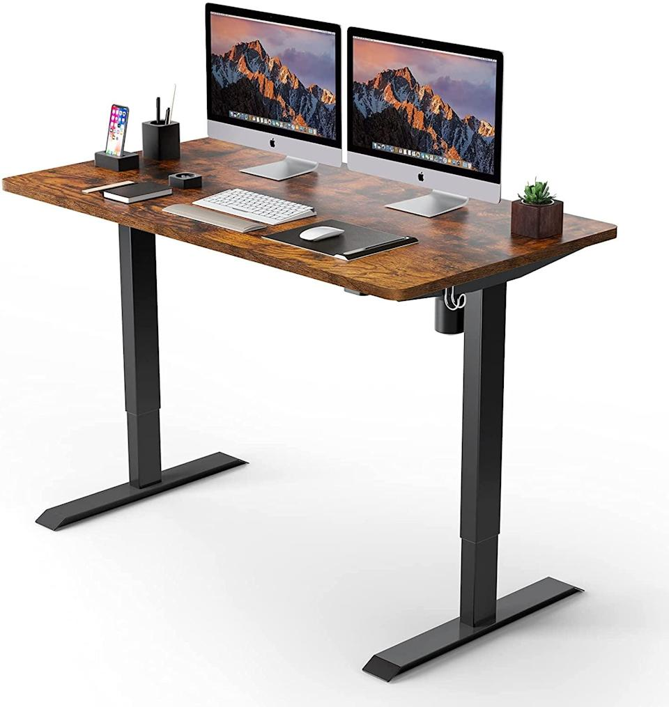 <p>Upgrade your work-from-home setup and get your legs stretched out with the <span>Electric Standing Desk</span> ($110). The lifting process of the sit and stand desk is stable, smooth, and quiet.</p>