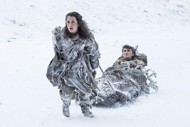 Ellie Kendrick as Meera Reed and Isaac Hempstead Wright as Bran Stark in HBO's 'Game of Thrones' (Photo: HBO)