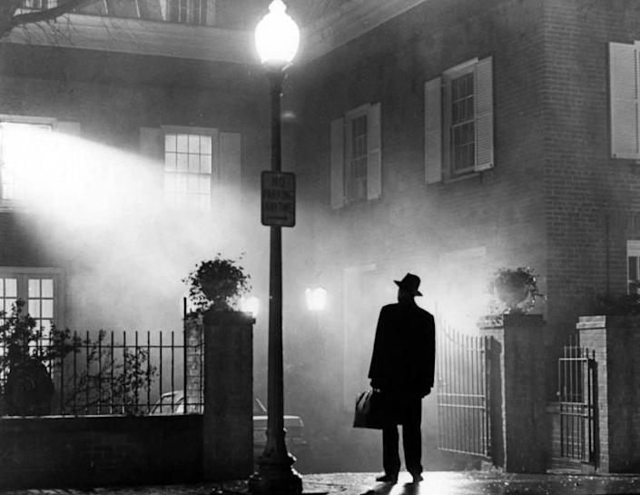 """Max von Sydow as Father Merrin in a scene from """"The Exorcist"""" based on the novel by William Peter Blatty. Credit: AMPAS"""
