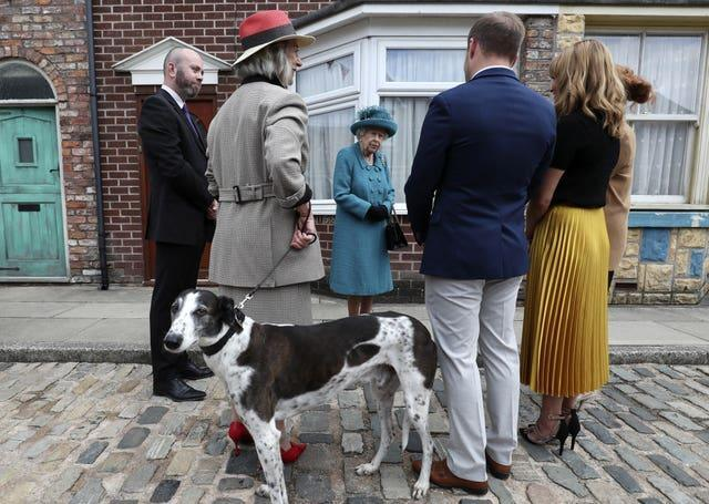 The Queen meets cast and production members (Scott Heppell/PA)