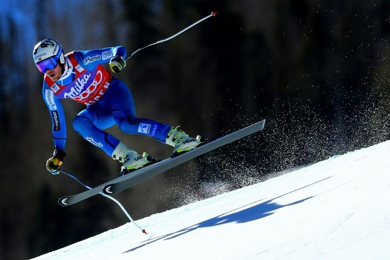 Kjetil Jansrud of Norway competes in the men's Super-G during the Audi FIS Ski World Cup Finals at Aspen Mountain on March 16, 2017 in Aspen, Colorado