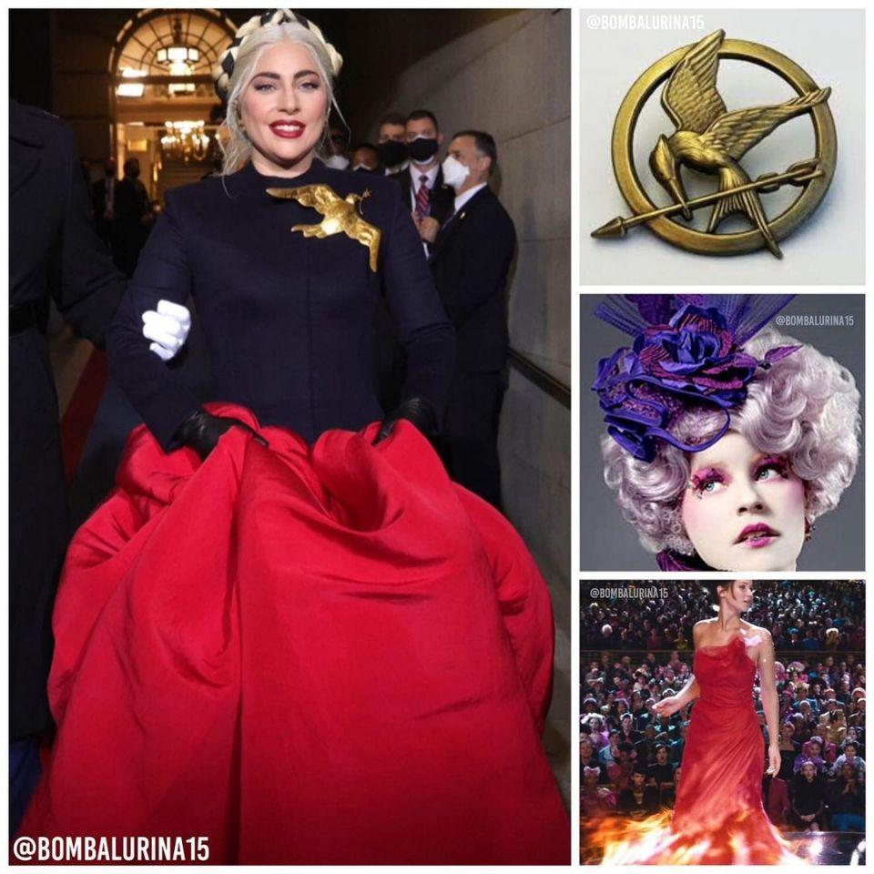 People online compared Gaga's look to one from The Hunger Games. Photo: Instagram/bombalurina15