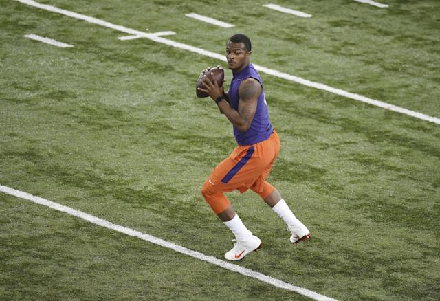 Clemson QB Deshaun Watson is one of the most decorated college quarterbacks in recent college history. (AP)