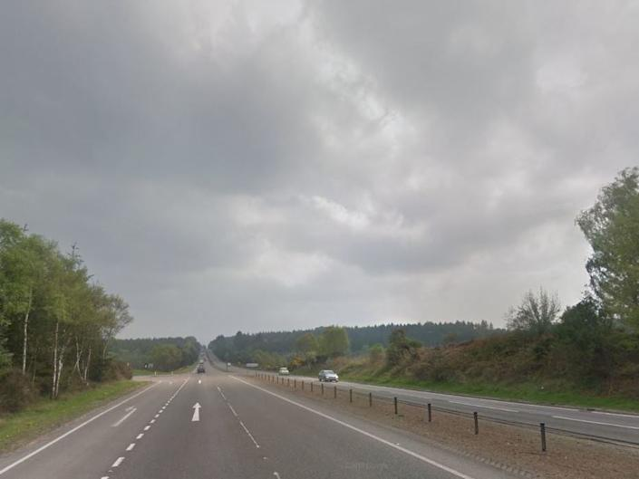 The A9 at Arpafeelie, where the driver was allegedly caught speeding: Google Street View