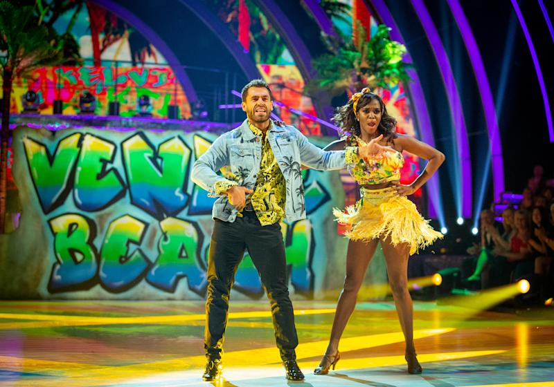 Kelvin Fletcher and Oti Mabuse paid homage to 'The Fresh Prince of Bel Air' (Credit: BBC)