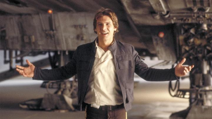 The famous Han Solo jacket was just one of many items being sold by Prop Store at London's BFI IMAX on Sept. 20, 2018.