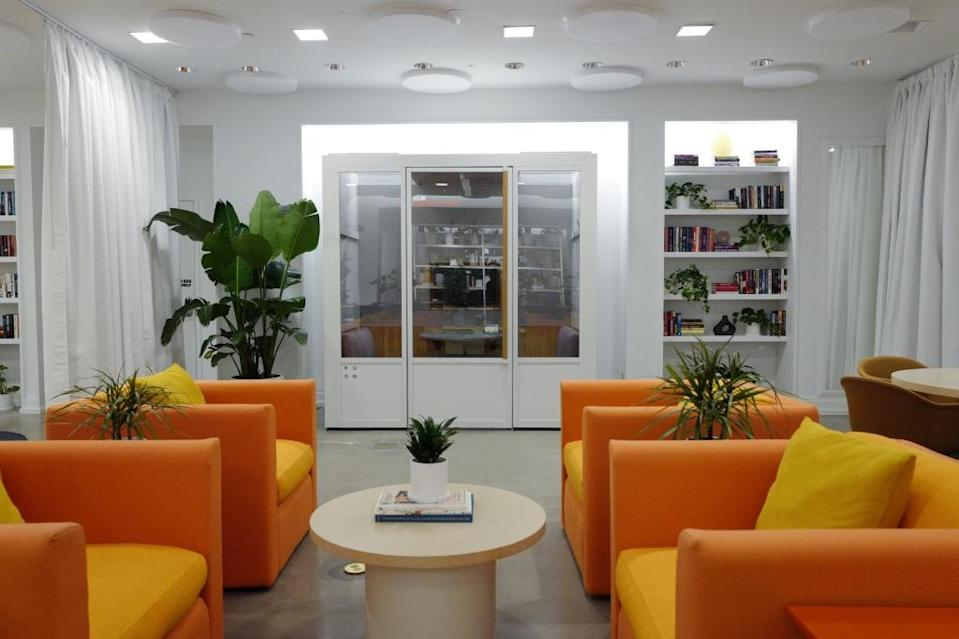 """One of the soundproof phone booths/mini-conference rooms for when you want to <a href=""""https://fortune.com/company/zoom"""" rel=""""nofollow noopener"""" target=""""_blank"""" data-ylk=""""slk:Zoom"""" class=""""link rapid-noclick-resp"""">Zoom</a> outside your home again."""