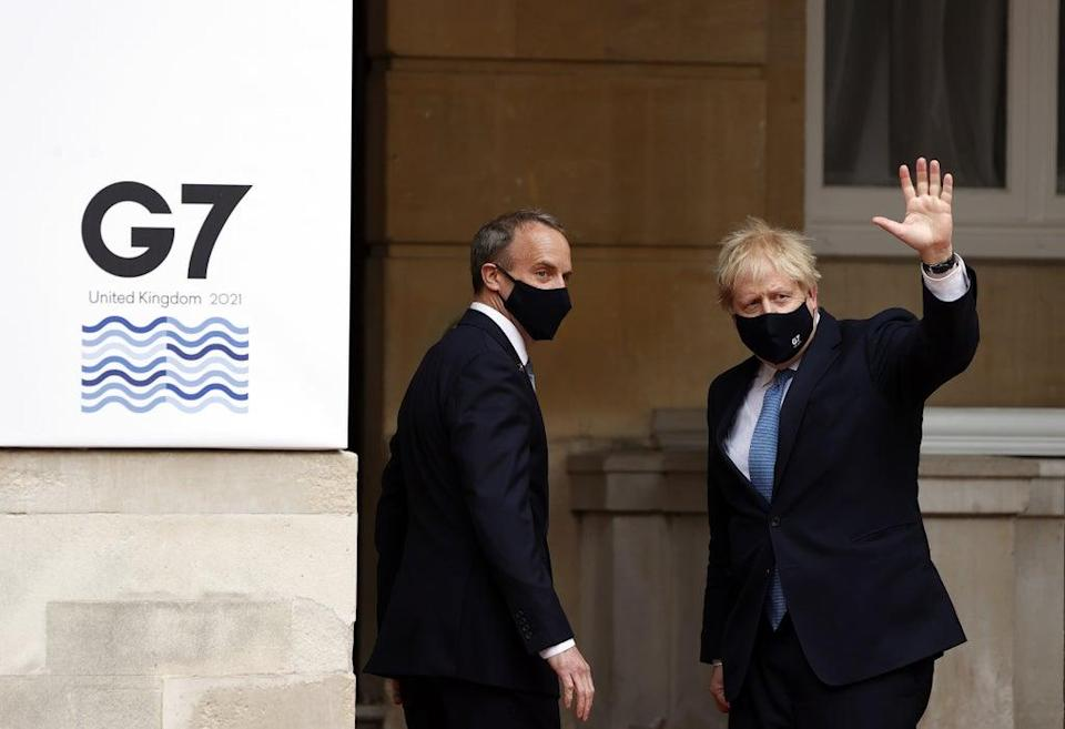 Prime Minister Boris Johnson and Foreign Secretary Dominic Raab are looking to lead the international response to Afghanistan (Adrian Dennis/PA) (PA Wire)