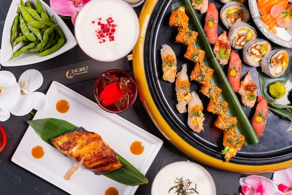"""<p>As if we didn't love the stylish Nobu Hotel London Portman Square enough, it has just partnered with House of Suntory's Roku Gin on a gorgeous summer garden. The spacious terrace is beautifully decorated with flowers and, in case of typical British weather, you'll find lots of heaters and transparent walls to keep you cosy. Start the fun by choosing a DIY cocktail made with top-quality spirits and served either as a martini or a negroni. And of course, you can sample the incredible food from Nobu's kitchen including their famous miso black cod, yellowtail ceviche and sushi rolls. If you feel like you've overindulged, why not join a class at the very first Nobu Pilates studio – a light-filled space where the amazing creative director Marsha Lindsay will put you through your paces.</p><p><a href=""""http://www.london-portman.nobuhotels.com"""" rel=""""nofollow noopener"""" target=""""_blank"""" data-ylk=""""slk:www.london-portman.nobuhotels.com"""" class=""""link rapid-noclick-resp"""">www.london-portman.nobuhotels.com</a></p>"""