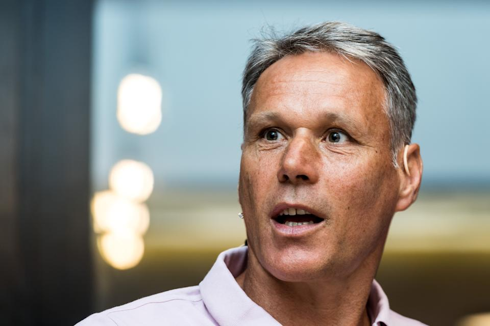 chief officer for technical development of the FIFA Marco van Basten during the press presentation of the Video Assistant Referee (VAR) at the KNVB Campus on July 30, 2018 in Zeist, The Netherlands(Photo by VI Images via Getty Images)