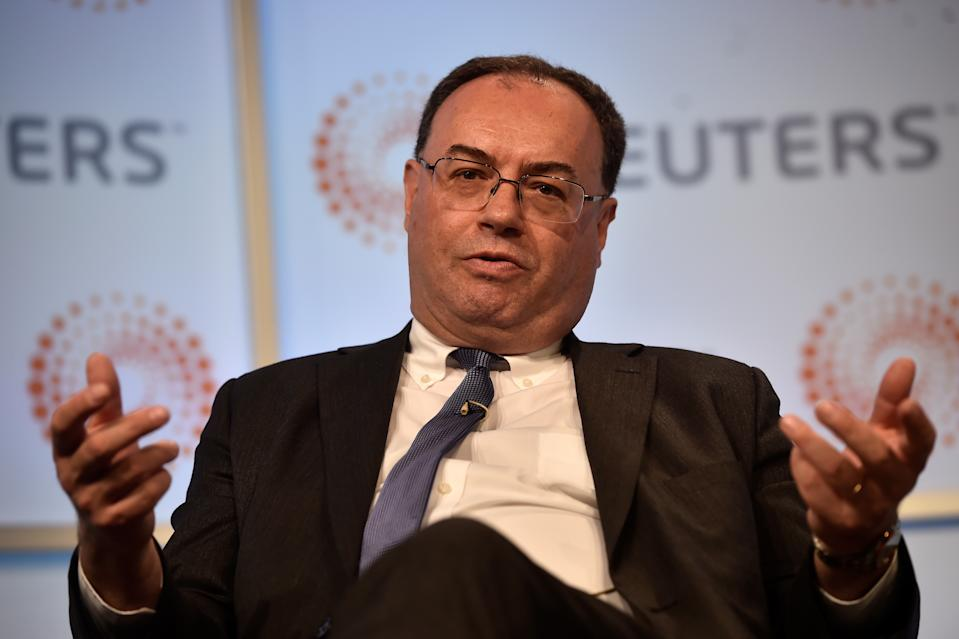Andrew Bailey, Chief Executive Officer of the Financial Conduct Authority, speaks during a