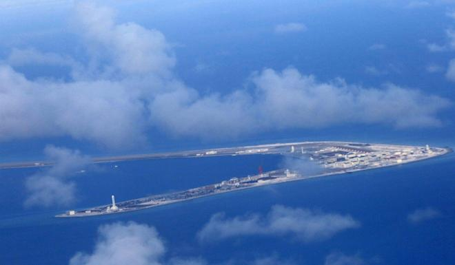 Subi Reef is one of several artificial islands claimed and developed by Beijing in the South China Sea. Photo: EPA-EFE